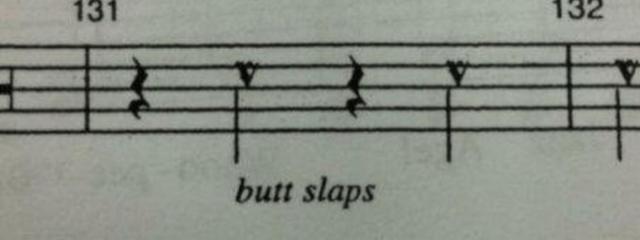 Text - 132 131 butt slaps