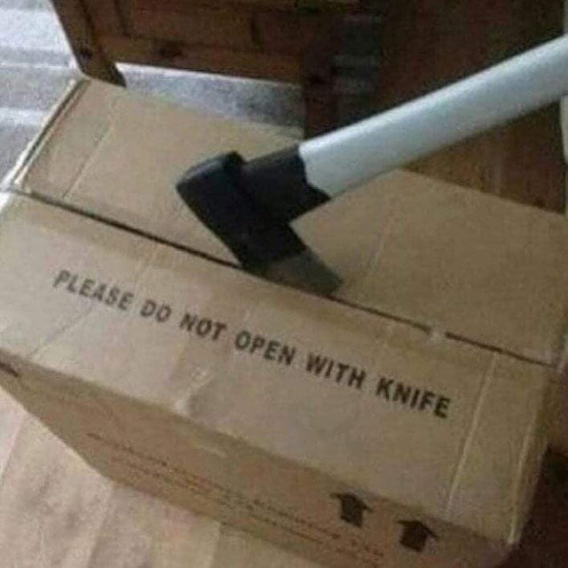 Box - PLEASE DO NOT OPEN WITH KNIFE