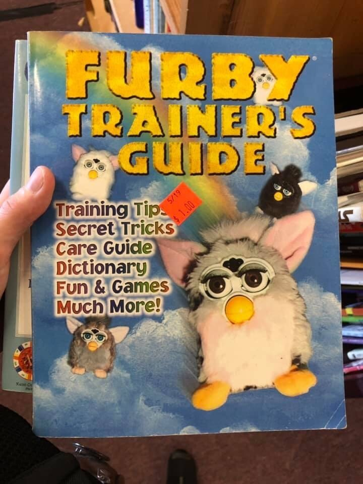 book - Text - FURBY TRAINER'S GUIDE Training Tip Secret Tricks Care Guide Dictionary Fun&Games Much More! N C 5/19
