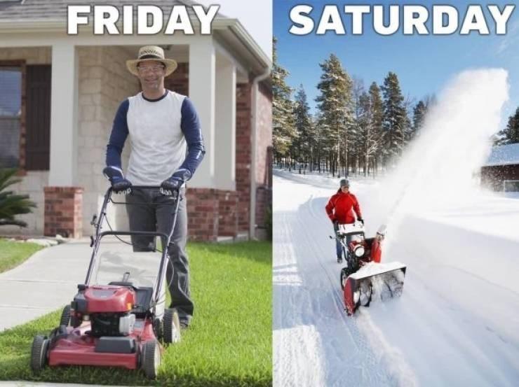 Meme - Lawn - SATURDAY FRIDAY