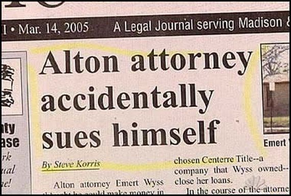 Headline - Text - A Legal Journal serving Madison& I Mar. 14, 2005 Alton attorney accidentally sues himself ty ase rk al e! Emert By Steve Korris chosen Centerre Title-a company that Wyss owned- Alton attomey Emert Wyss close her loans. w maka money in In the course of the attornel