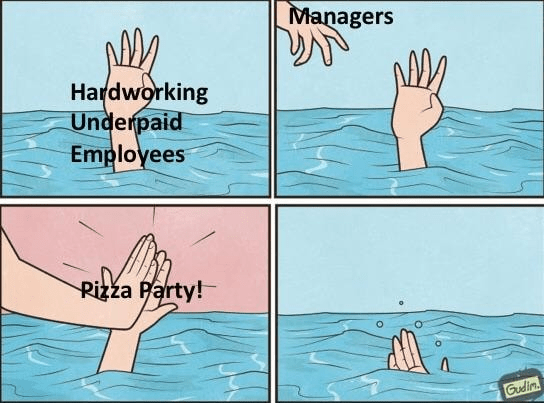 Water - Managers Hardworking Underpaid Employees Rizza Party! Gudim
