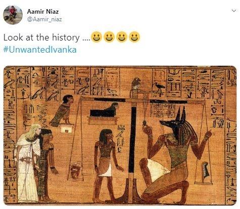 Photoshop - Text - Aamir Niaz @Aamir niaz Look at the history #Unwantedlvanka