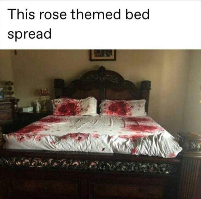 Bedroom - This rose themed bed spread
