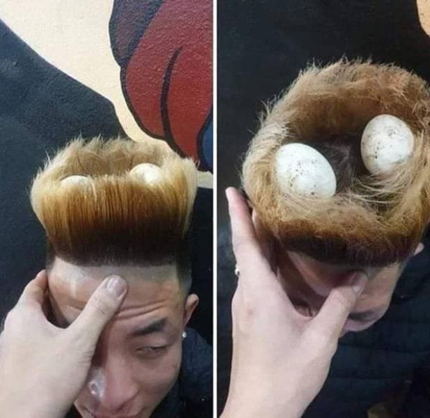 Haircut that looks like birds nest