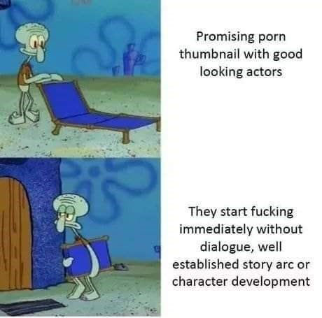 Cartoon - Promising porn thumbnail with good looking actors They start fucking immediately without dialogue, well established story arc or character development