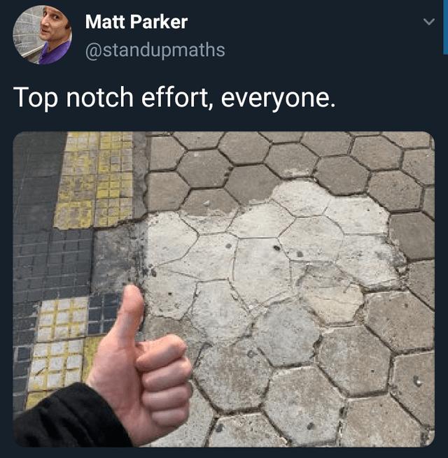 facepalm - Text - Matt Parker @standupmaths Top notch effort, everyone.