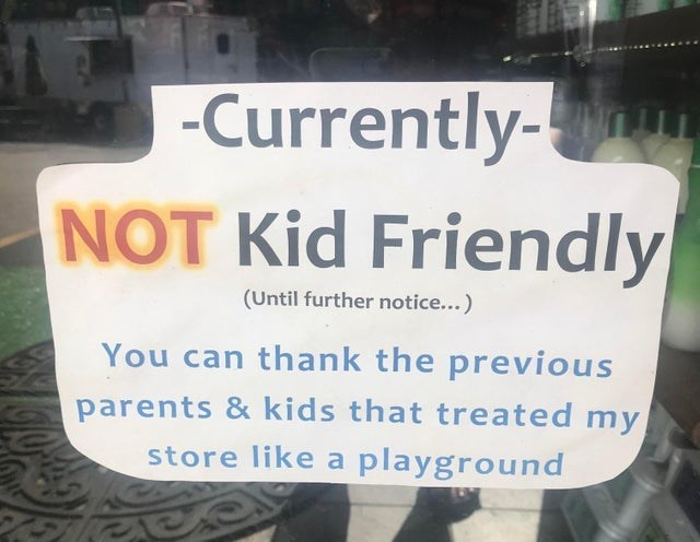 Text - -Currently- NOT Kid Friendly (Until further notice...) You can thank the previous parents&kids that treated my store like a playground