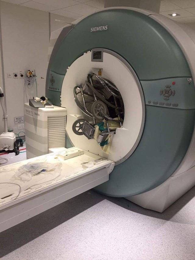 wheelchair that got sucked into the siemens MRI machine