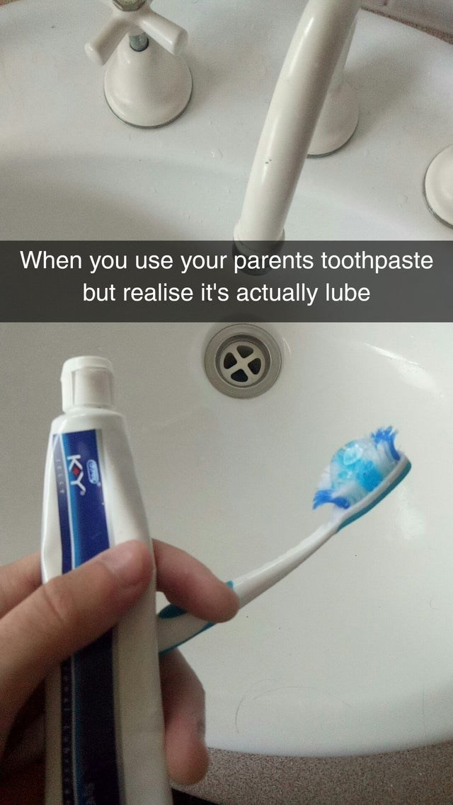 go for toothpaste but it is your parent's lube