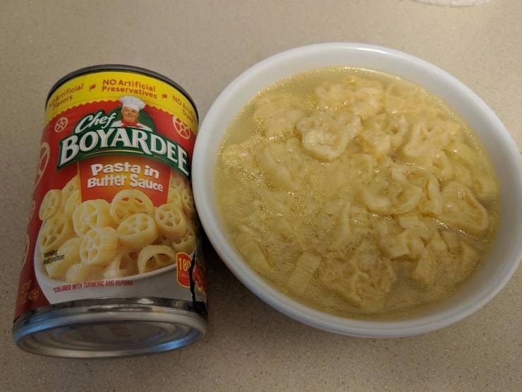 Food - NO Artificial Preservatives artificial rors NOA Chef BOYARDER pasta in Butter Sauce pestion 18p UED MITH TURMENC AND PAPI