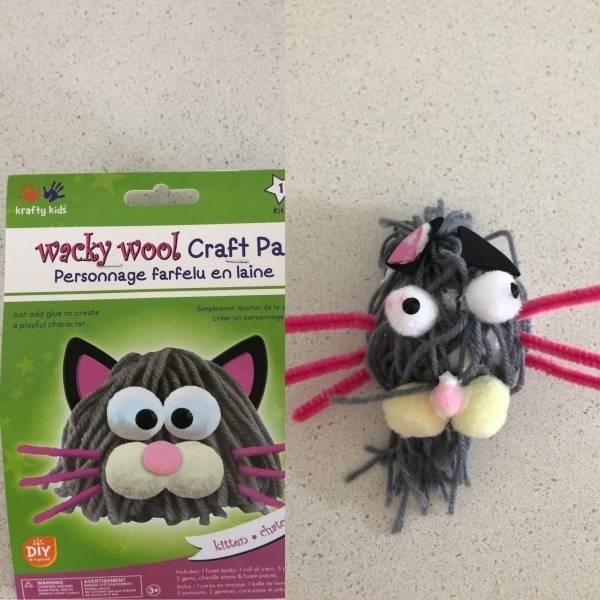 Toy - krafty kids kit wacky wool Craft Pa Personnage farfelu en laine Jst odd pue to create a pleyfel charactar lemt te de la s cré un Dersmage DIY kttterp chate &oen r Ieda ar chen ake ew pimenn 34