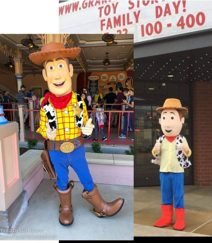 Funny picture - Woody from Toy Story costume