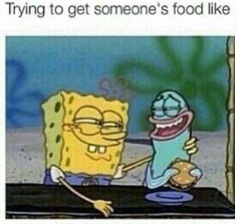 Cartoon - Trying to get someone's food like