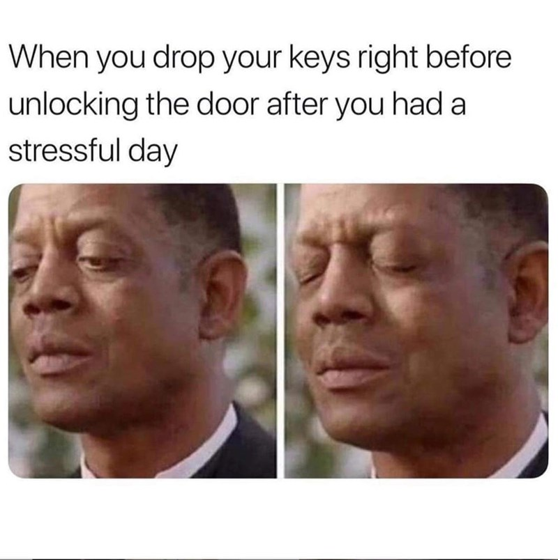 Meme - Face - When you drop your keys right before unlocking the door after you had a stressful day