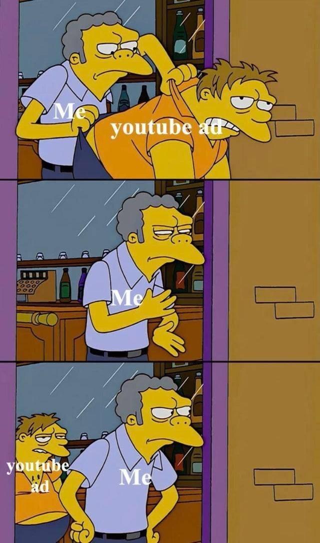 meme - Cartoon - youtube ad Me youtube Me