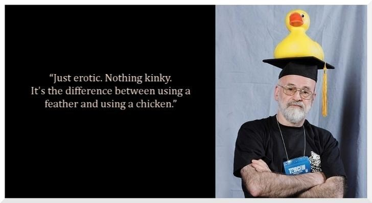 """Just erotic. Nothing kinky. It's the difference between using a feather and using a chicken."" TORCO"