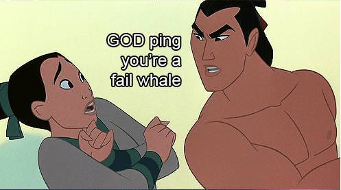 Funny Picture - Animated cartoon - GOD ping you're a fail whale