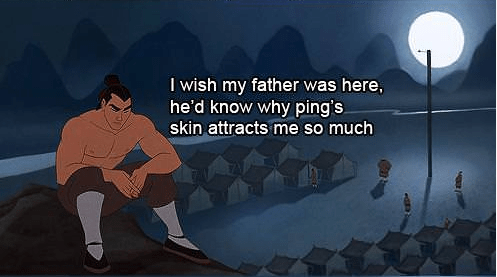 Funny Picture - Cartoon - I wish my father was here, he'd know why ping's skin attracts me so much