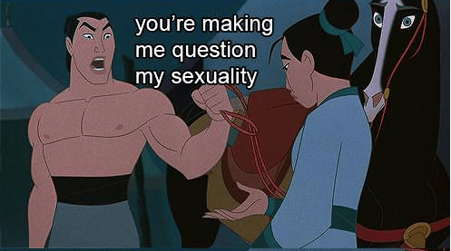 Funny Picture - Cartoon - you're making me question my sexuality