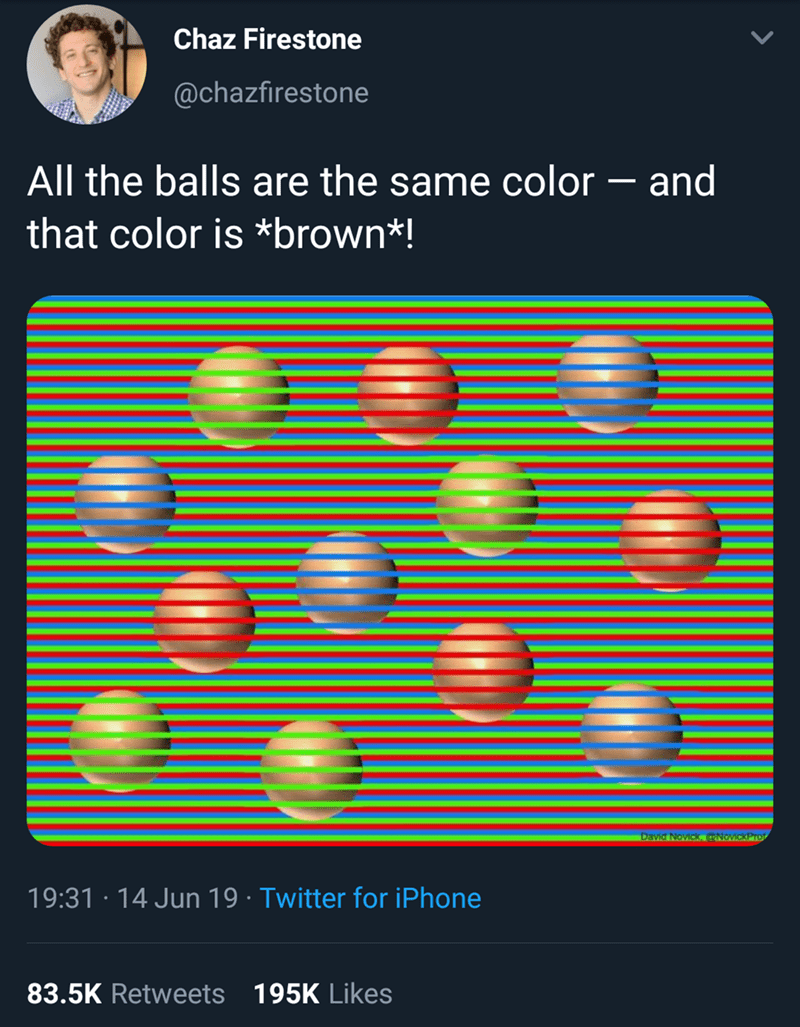 Meme - All the balls are the same color - and that color is *brown*!