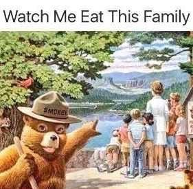 Meme - Animated cartoon - Watch Me Eat This Family SMOKE