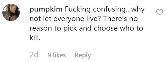 piglet - Text - pumpkim Fucking confusing.. why not let everyone live? There's no reason to pick and choose who to kill. 2d 9 likes Reply