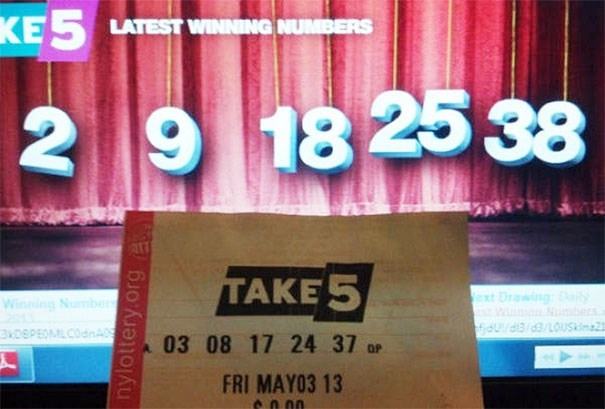 Text - KE5 LATEST WINNING NUMBERS 18 25 38 2 9 TAKE 5 ext Drawing Winning Number fidUd/d3/LOUskina2 oSPEOMLCOdn 03 08 17 24 37 oP FRI MAY03 13 nylottery.org