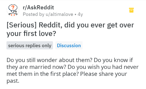 screenshot of text from ask reddit
