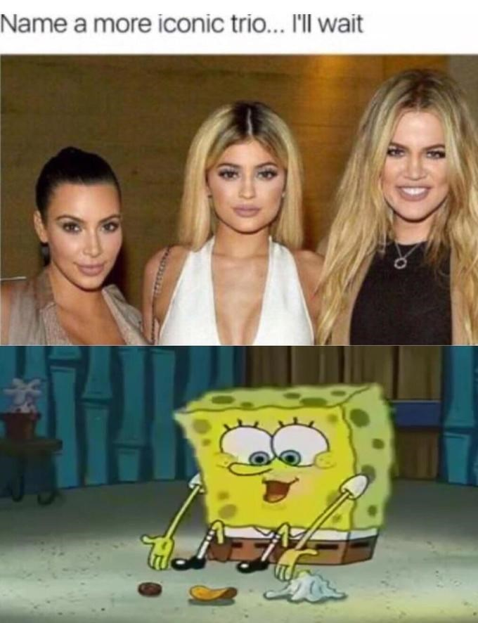 Meme - Spongebob - Name a more iconic trio... I'll wait
