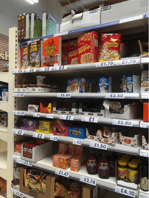 american food - Retail - WaleDouro Kaa Apa MaterMateys Reeses Pusfs FRE PNBA29T £1.79 £1.79 E3 £5 £5 E5 CH E3.50 £5,50 PG E1.50 Sabroo cEART E1.20 E1 £1 £1 £2.80 pMike k Megan £2 Macar £2 £2 £2 £1.50 e E3.15 le ISHECS £1.47 £3.74 YDER £4.10 £1.80 $5 Mike ke