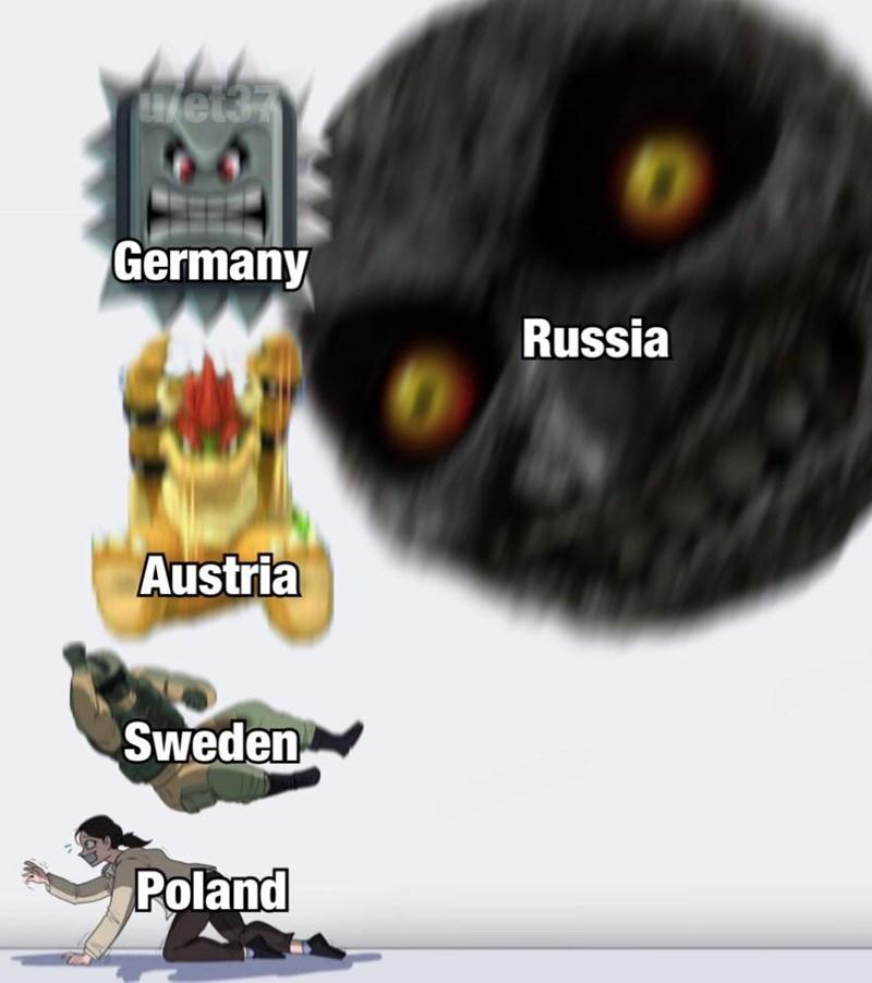 Meme - Animation - Germany Russia Austria Sweden Poland
