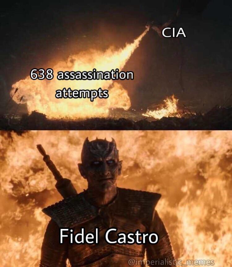 Meme - Movie - CIA 638 assassination attempts Fidel Castro @imperialisticumemes