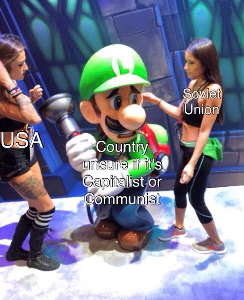 Meme - Action figure - Soviet Union USA Country unsure if it's Capitalist or Communist