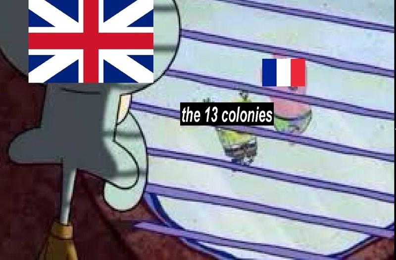 Meme - Cartoon - the 13 colonies