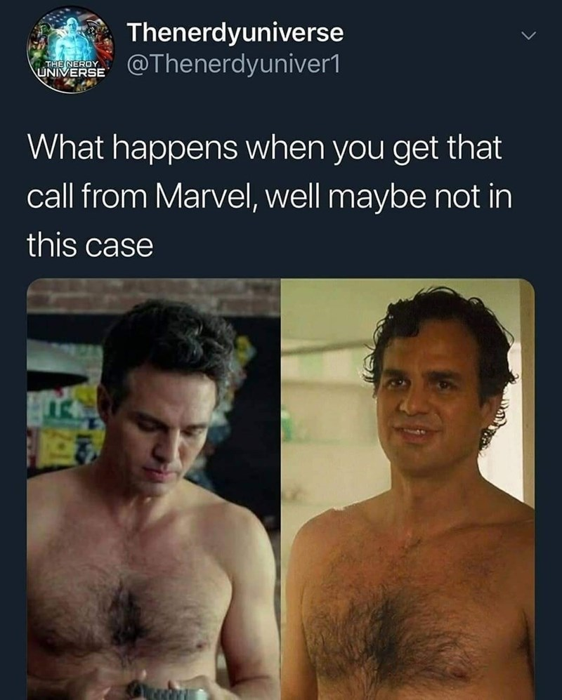 superhero physique - Barechested - Thenerdyuniverse @Thenerdyuniver1 THE NEROY UNIVERSE What happens when you get that call from Marvel, well maybe not in this case