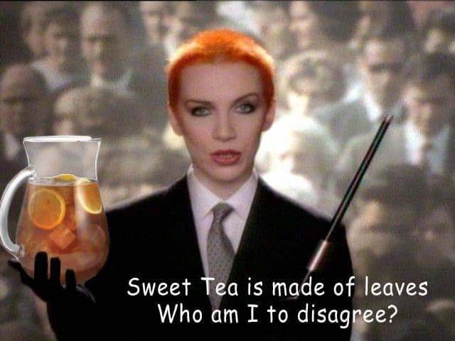 music meme - Photo caption - Sweet Tea is made of leaves Who am I to disagree?