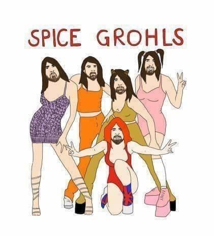 music meme - Cartoon - SPICE GROHLS M.
