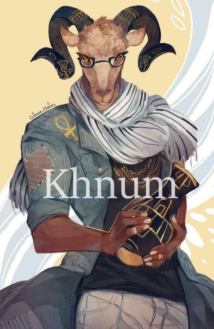 egyptian god modern art - Illustration - CA Crimion-Chains Khnum 20