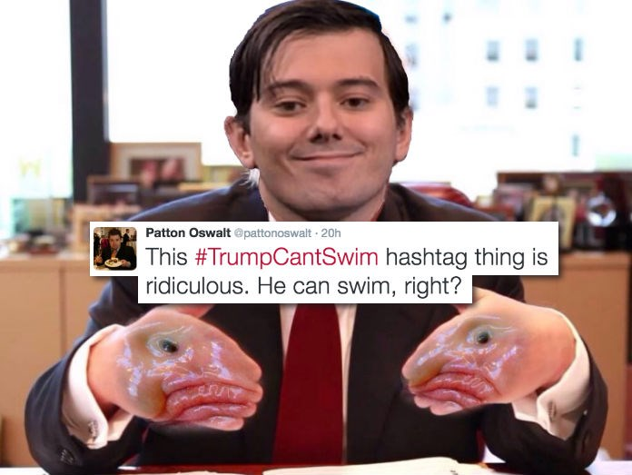 list,Patton Oswalt,donald trump,pharma bro,troll,twtter,politics