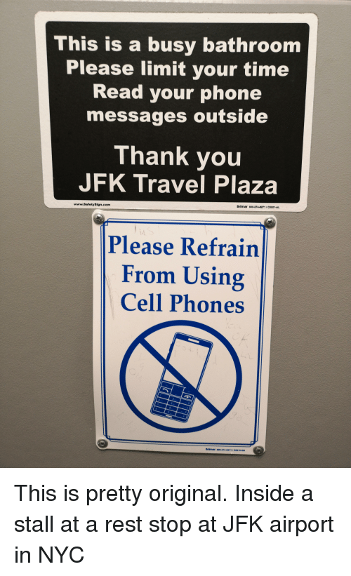 a black and a blue and white sign with writing and picture of a mobile phone