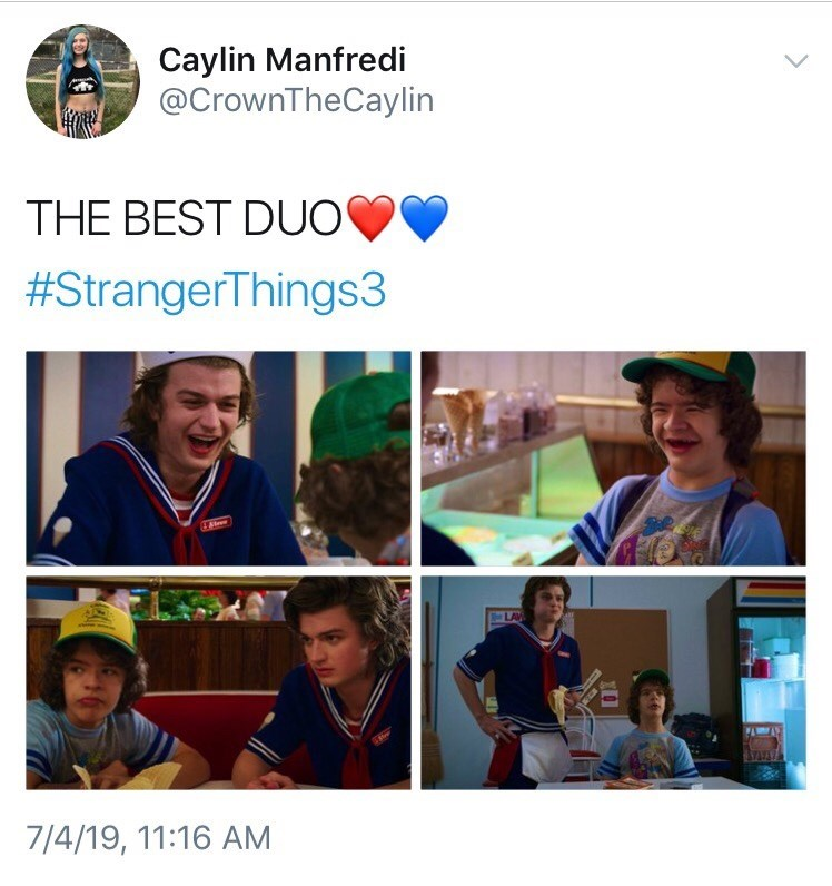 Community - Caylin Manfredi @CrownTheCaylin THE BEST DUO #StrangerThings3 Ateer LAV 7/4/19, 11:16 AM