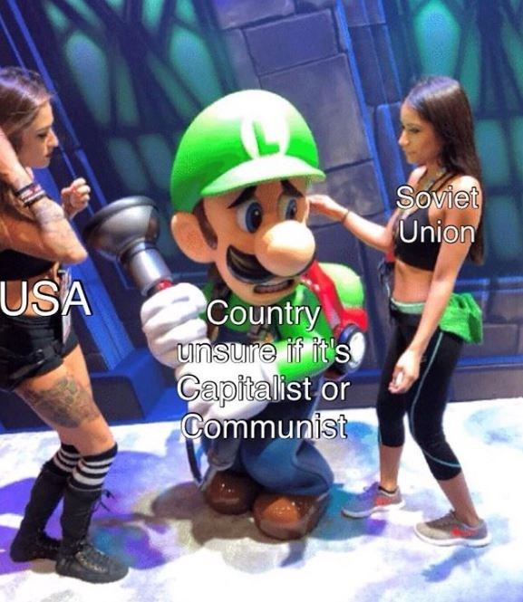 Meme - Footwear - Soviet Union USA Country unsure if it's Capitalist or Communist