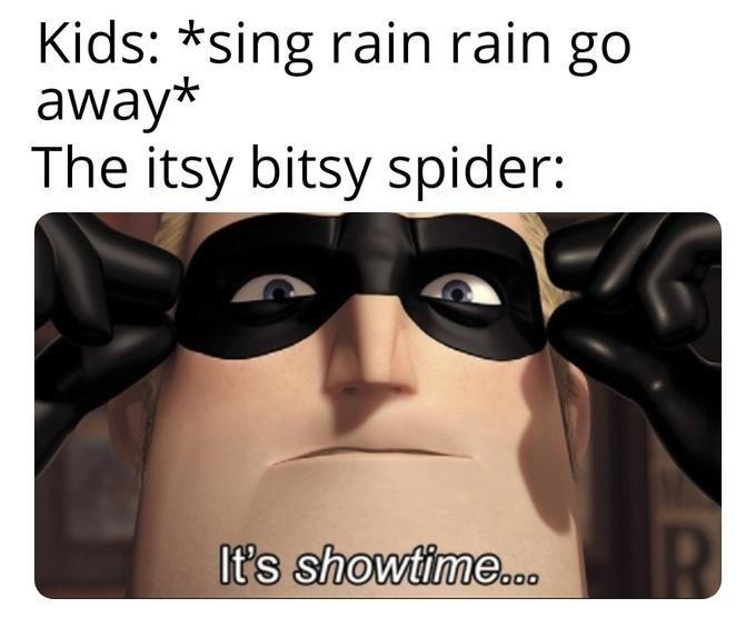 Eyewear - Kids: *sing rain rain go away* The itsy bitsy spider: It's showtime.o
