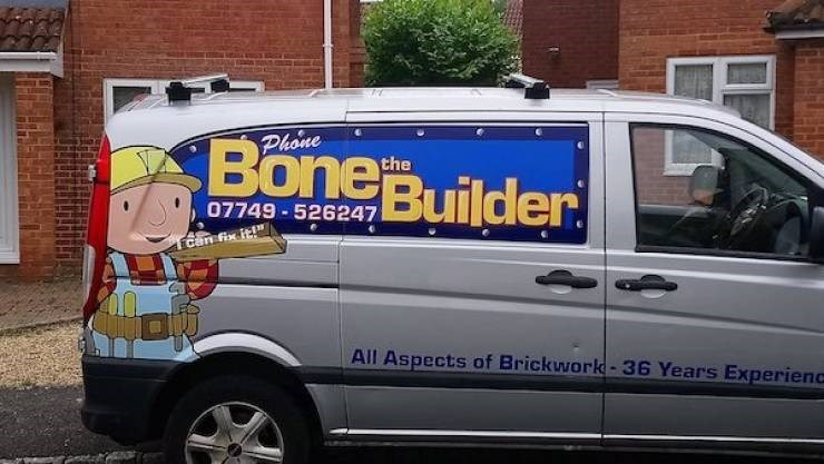 Land vehicle - BoneBuilder Phone the 07749-526247 Can fix it! All Aspects of Brickwork-36 Years Experienc