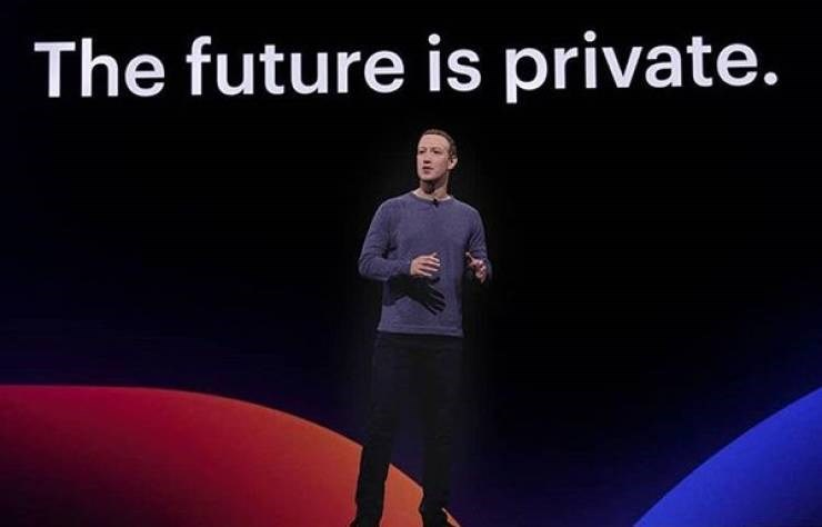 ironic - Text - The future is private.