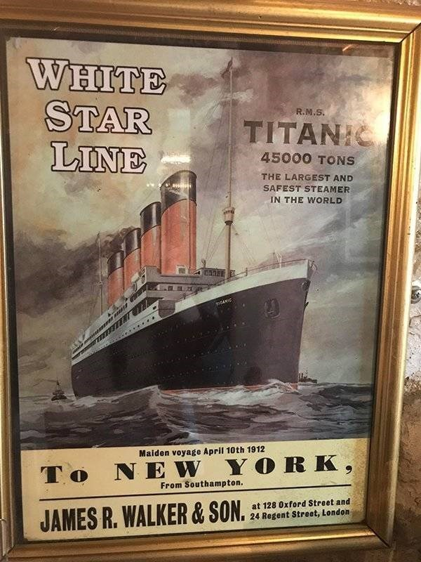 ironic - Poster - WHITE STAR LINE R.M.S. TITANIC 45000 TONS THE LARGEST AND SAFEST STEAMER IN THE WORLD TIEANIC Maiden voyage April 10th 1912 To NEW YORK, From Southampton. at 128 0xford Street and JAMES R. WALKER&SON. 24 Regent Street, London