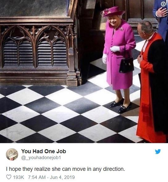 funny tweet - Games - You Had One Job @youhadonejob1 I hope they realize she can move in any direction. 193K 7:54 AM- Jun 4, 2019