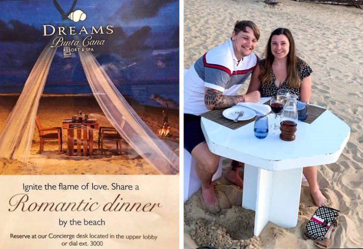 false advertisement - Photograph - DREAMS Punta Cana RESORT A SPA Ignite the flame of love. Share a Romantic dinner by the beach Reserve at our Concierge desk located in the upper lobby or dial ext. 3000