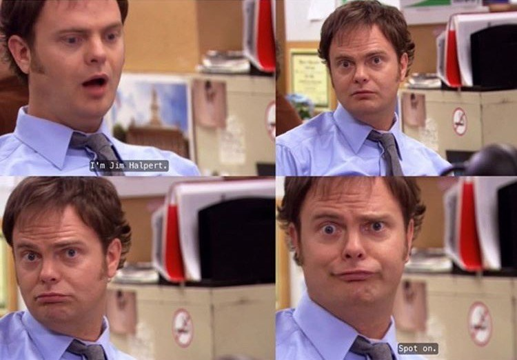 dwight funny faces the office memes